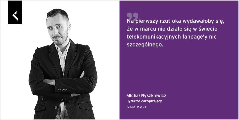 Michał Ryszkiewicz, dyrektor zarzadzający Kamikaze komentuje dla Sotrender