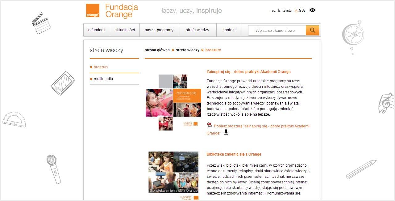 portfolio_fundacja_orange_screen_menu